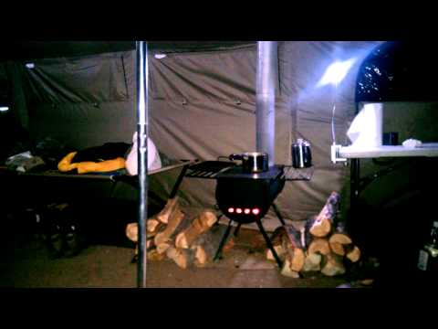 Cabelas Alaknak with stove