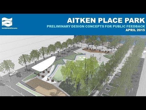 Aitken Place Park – Preliminary Designs for Public Feedback