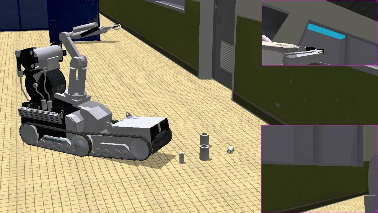 Simulation of real tracked robots in Webots