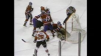 1987 playoffs - Flyers' Sinisalo scores OT winner vs Montreal