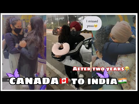 Surprise visit from CANADA TO INDIA AFTER 2 YEARS  GOT EMOTIONAL  TRAVELLING DURING COVID-19 🥺