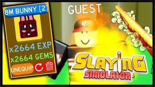 LEVEL 1000, 8M BUNNY, PRESTIGE & CODE! | Roblox Slaying Simulator