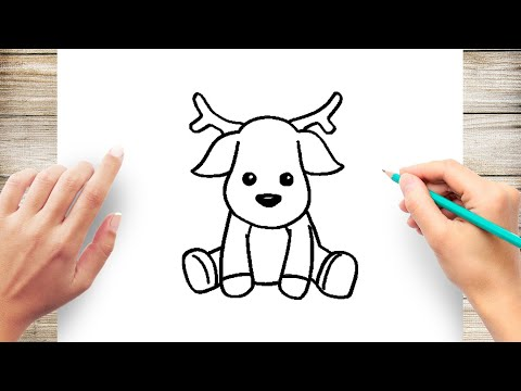 How To Draw Baby Reindeer Step By Step