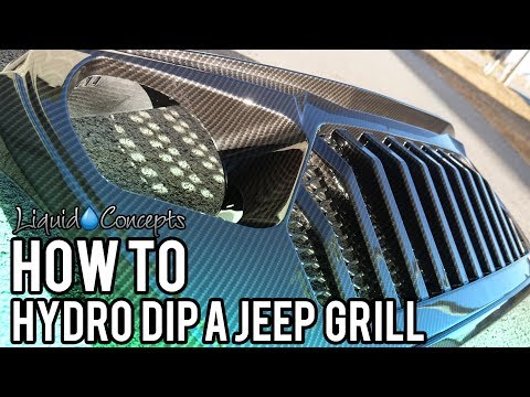 HYDRO DIPPING SPARTAN JEEP GRILL IN CARBON FIBER | Liquid Concepts | Weekly Tips And Tricks