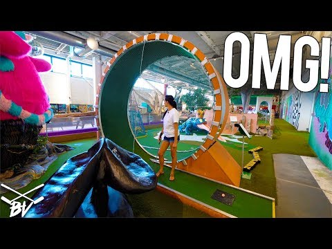 THE CRAZIEST MINI GOLF COURSE IN THE WORLD DOUBLE HOLE IN ONE AND INSANE HOLES
