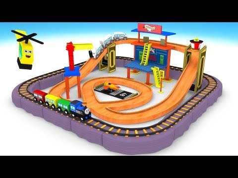 New Toy Train Set - Train Cartoon For Kids - Toy Videos For Kids - Choo Choo Train Kids Videos