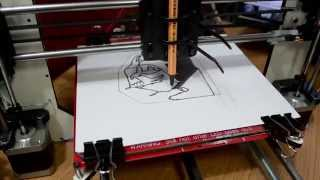 3D Printer Art drawing and Star Wars Soundtrack