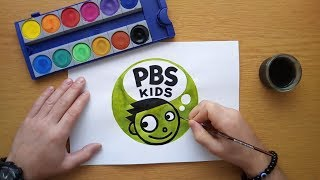 How to draw the PBS Kids logo