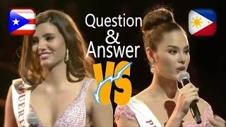Miss World 2016 Question and Answer Philippines VS Puerto Rico