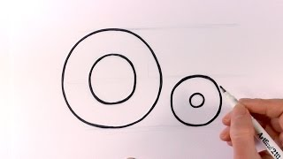 How To Draw a Cartoon Letter O and o