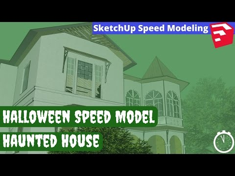 Halloween Haunted House SketchUp Speed Model