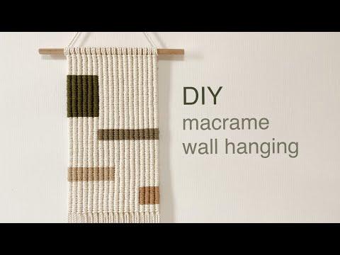 DIY TUTORIAL macrame wall hanging vertical clove hitch knot | 마크라메 월 행잉 세로 감아매기 매듭