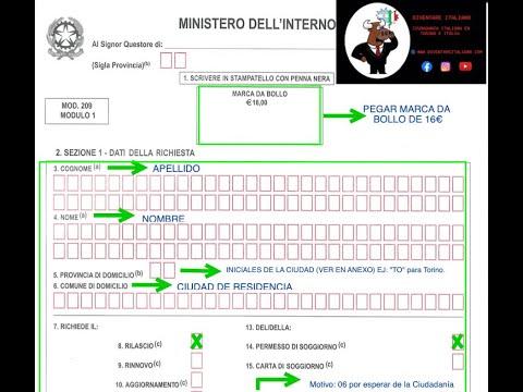 ¿Cómo completar el Kit del Permesso di Soggiorno? (Jure ...