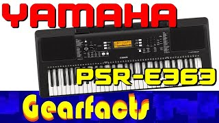 Yamaha PSR-E363 demo and tutorial