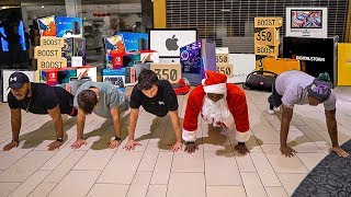 Beat Santa In Push-Ups, I'll Buy You Anything In The Mall!