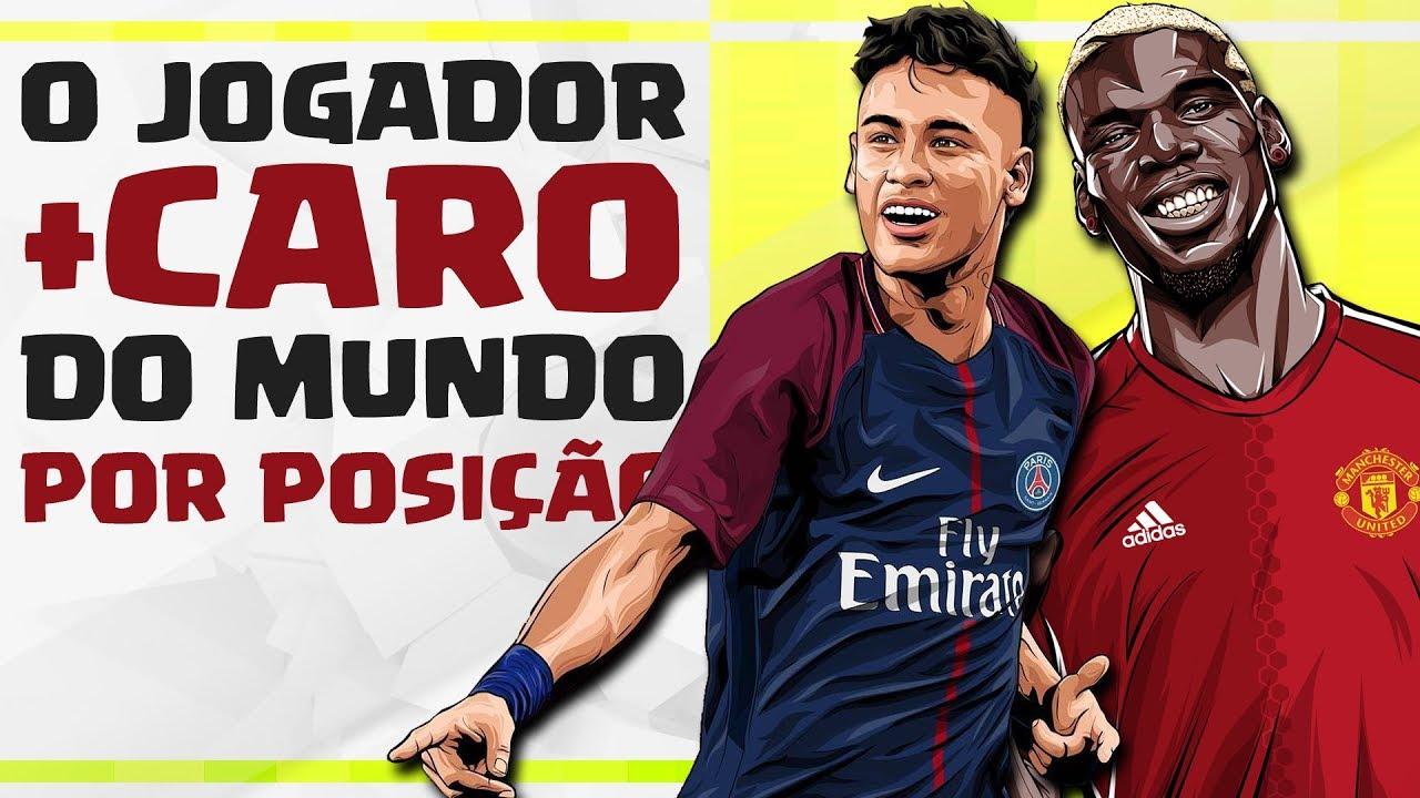 Seleção dos jogadores MAIS CAROS DO MUNDO por posição - YouTube 6539732abbc86