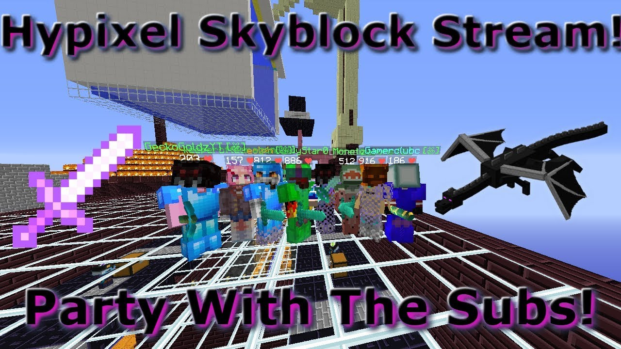 GIVEAWAYS, EVENTS, AND DRAGONS! (LIVE) - Hypixel Skyblock