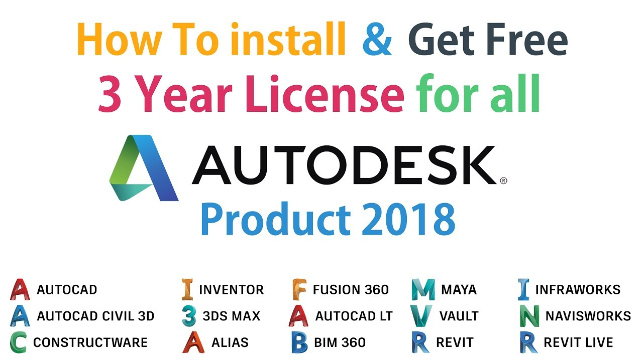 Get Free 3 years License for All AUTODESK 2018 Product | Bangla
