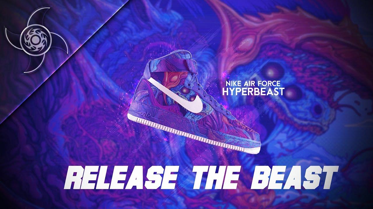 Hyper Beast Fullprint Hoodie: Nike Air Force Hyperbeast