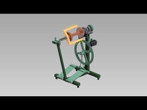 Twisting-Twining Machine Test Run