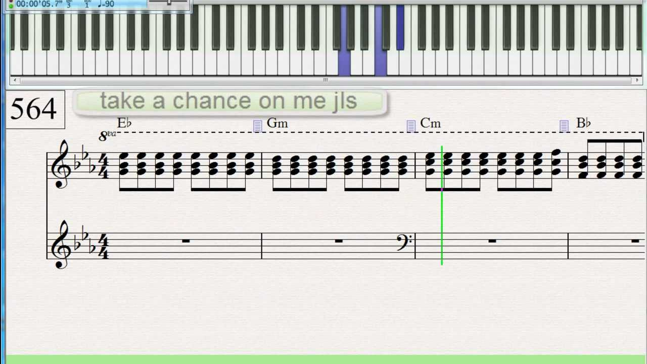 Jls take a chance on me piano keyboard tutorial 564 youtube jls take a chance on me piano keyboard tutorial 564 hexwebz Images