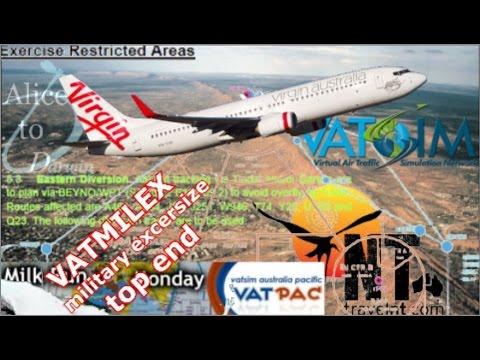 Alice Springs to Darwin, PMDG 737NGX on Vatsim - Talisman Saber