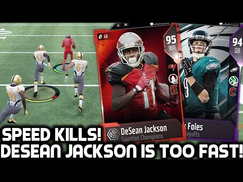 DESEAN JACKSON IS TOO FAST! PLAYOFFS NICK FOLES & MORE! ! Madden 18 Ultimate Team