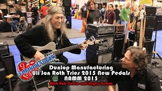 NAMM 2015: Uli Jon Roth Visits The Jim Dunlop Booth And Plays The New Pedals