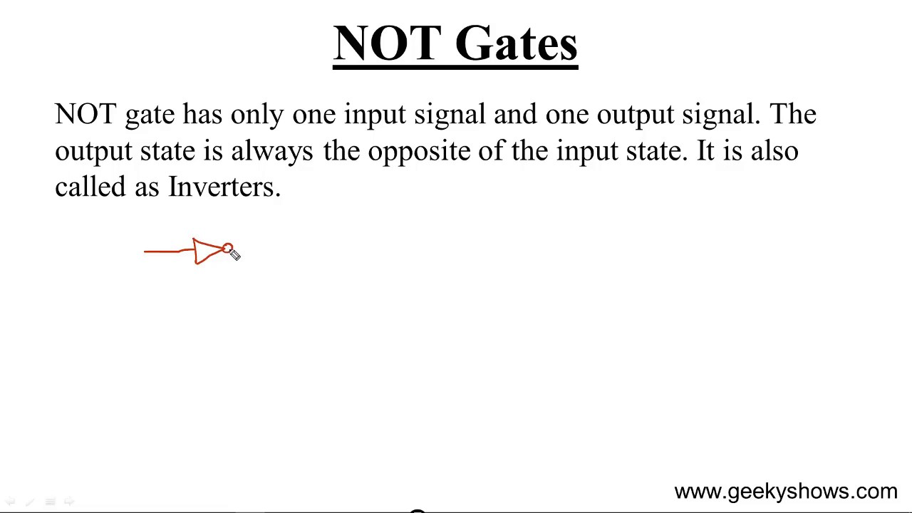 Not Gate Hindi Youtube Digital Logic Tutorial Basic Gates
