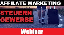 Affiliate Marketing Steuern