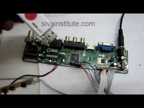 How to install universal LED TV board T VST59 031