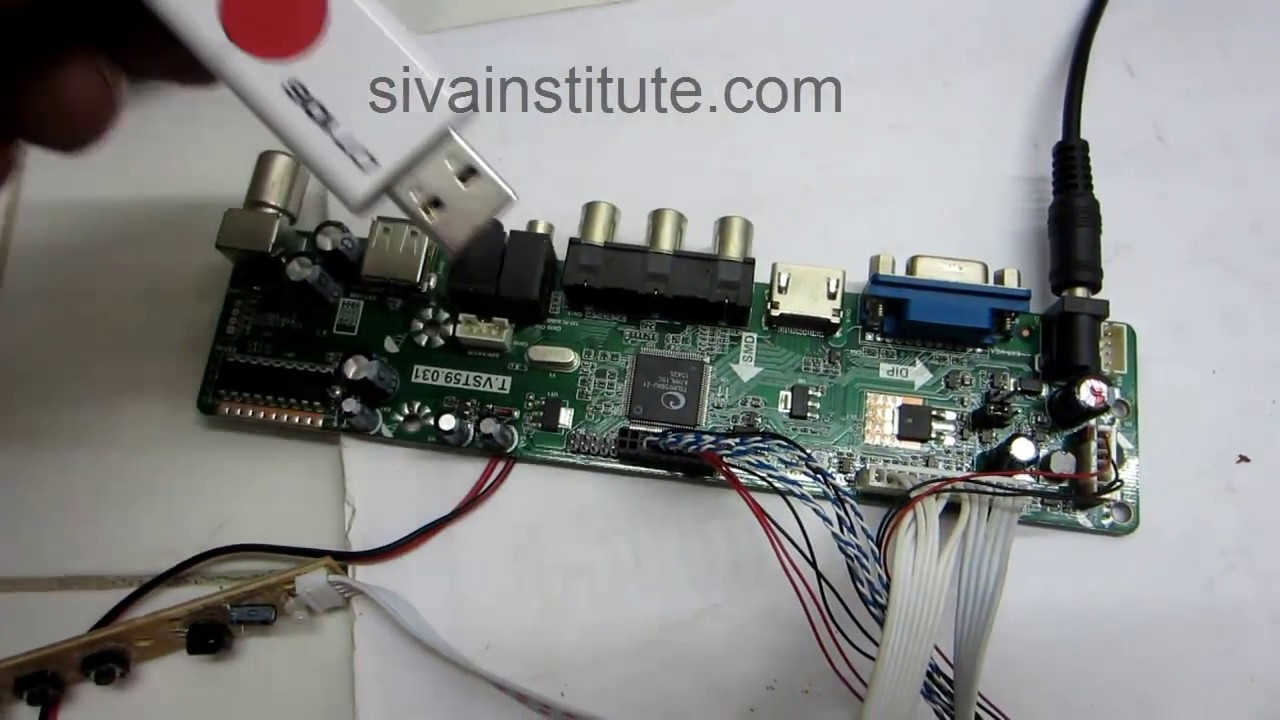 How to install universal LED TV board T VST59 031 - YouTube