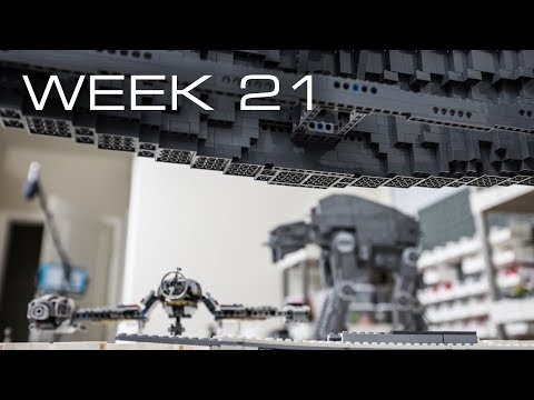 Building Crait in LEGO - Week 21: Suspended Wall