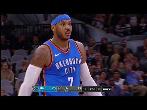 Oklahoma City Thunder vs. San Antonio Spurs - November 17, 2017