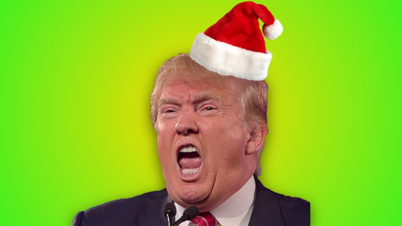 donald trump literally hypocritically promises to save christmas