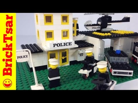 LEGO Town 585 Police Headquarters from 1975! Early LEGOLAND City