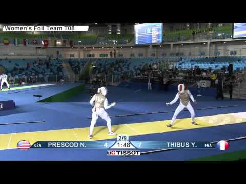 World Team Fencing Championships 2016 Rio - Women's Foil T08 FRA vs USA