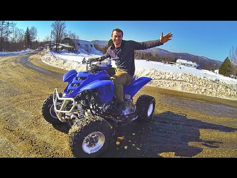 TAKING THE FOUR WHEELER OUT !! ( YAMAHA RAPTOR )