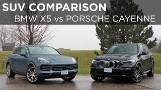 2019 BMW X5 vs 2019 Porsche Cayenne | SUV Comparison | Driving.ca
