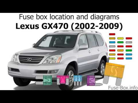 fuse box location and diagrams lexus gx470 2002 2009. Black Bedroom Furniture Sets. Home Design Ideas