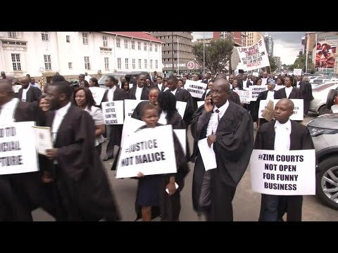 Zimbabwe lawyers march for rule of law to be respected after arrests