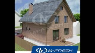 M-fresh Anderson (Готовый архитектурный проект дома с мансардой, кирпичный фасад, терраса, витраж)(, 2016-11-24T03:01:09.000Z)
