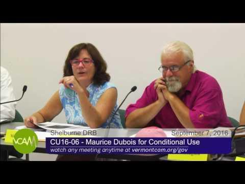 Shelburne Development Review Board: September 7, 2016