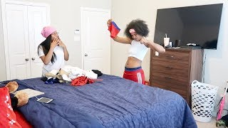 I SHRUNK YOUR CLOTHES PRANK ON GIRLFRIEND!! FT. AR'MON AND TREY