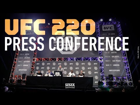 UFC 220 Press Conference: Miocic vs. Ngannou - MMA Fighting