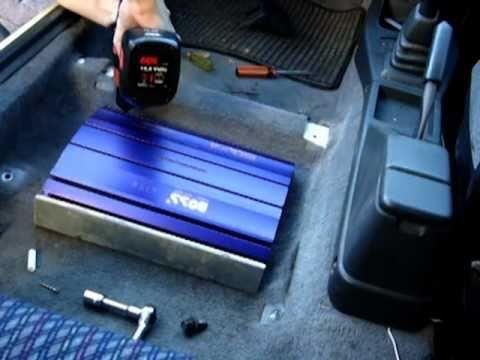 Installing Amp Under Seat Part 2 Youtube