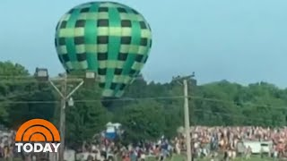 Rogue Hot-Air Balloon Crash Caught On Video | TODAY