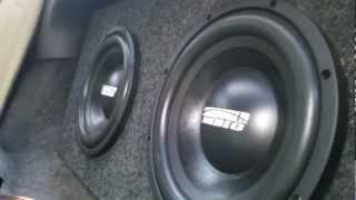 2 e series 10 inch sundown subs on 1200 watt hifonics amp