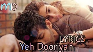 Yeh Dooriyan (LYRICS) From Love Aaj Kal 2 || Kartik & Sara ||