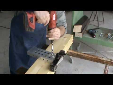 Dima per sistema di connessione travi in legno 4 youtube for Dima per cerniere a scodellino